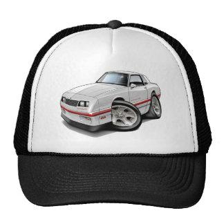 1983-88 Monte Carlo White-Red Car Trucker Hat