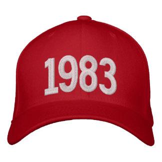 1983 años gorras de beisbol bordadas