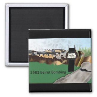 1983 Beirut Bombing Remembrance Refrigerator Magnets