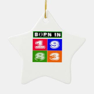 1983 Birthday Designs Christmas Tree Ornaments