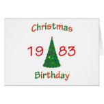 1983 Christmas Birthday Greeting Card