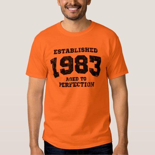 1983 establecidos envejecidos a la perfección remeras