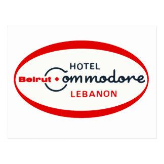 1983 Hotel Commodore logo Postcard