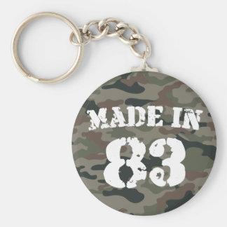 1983 Made In 83 Basic Round Button Keychain