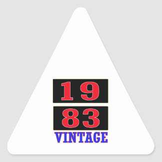1983 Vintage Triangle Stickers