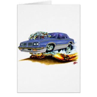 1984-88 Hurst Olds Blue-Grey Car Card
