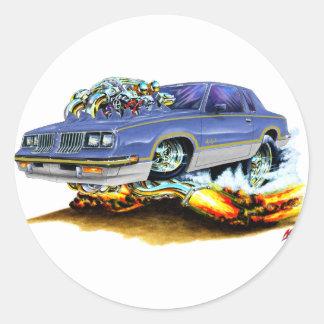 1984-88 Hurst Olds Blue-Grey Car Classic Round Sticker