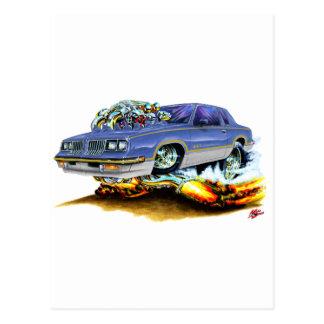 1984-88 Hurst Olds Blue-Grey Car Postcard