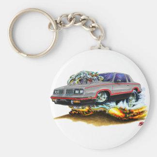 1984-88 Hurst Olds Grey-Black Car Basic Round Button Keychain
