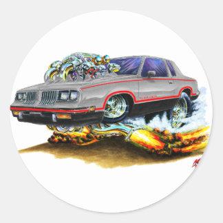 1984-88 Hurst Olds Grey-Black Car Classic Round Sticker