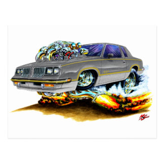 1984-88 Hurst Olds Grey Car Postcard