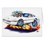 1984-93 Corvette White Car Greeting Card