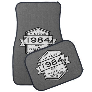 1984 Aged To Perfection Car Floor Mat