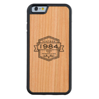 1984 Aged To Perfection Carved® Cherry iPhone 6 Bumper Case