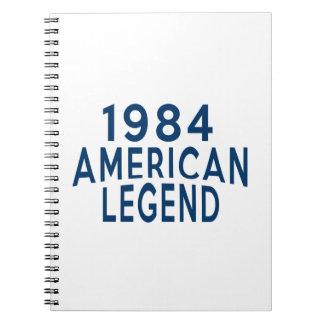 1984 American Legend Birthday Designs Notebook