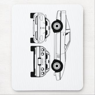 1984  Chevrolet Corvette schematic Mouse Pad