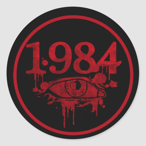 1984 CLASSIC ROUND STICKER
