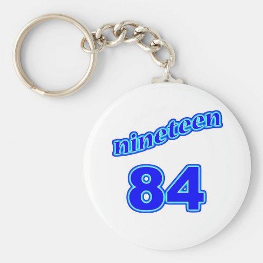 1984 diecinueve 84 llaveros personalizados