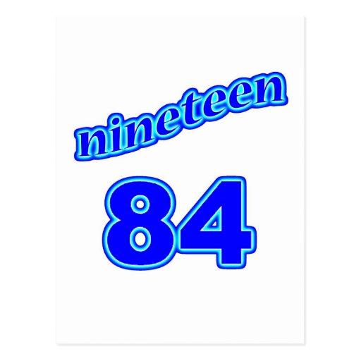 1984 diecinueve 84 postales