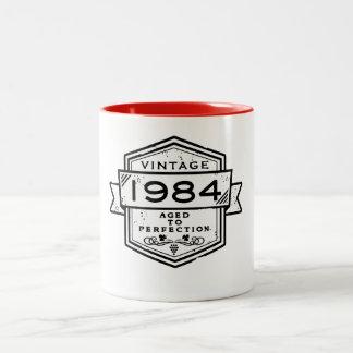 1984 envejecido a la perfección taza de dos tonos