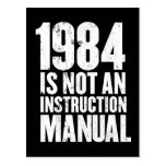 1984 is Not an Instruction Manual Post Cards