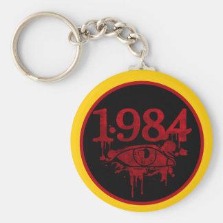 1984 BASIC ROUND BUTTON KEYCHAIN