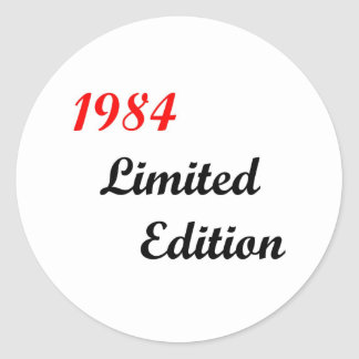 1984 Limited Edition Classic Round Sticker