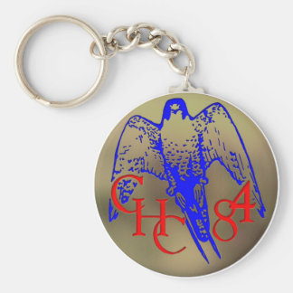 1984 Los Banos Basic Round Button Keychain