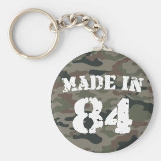 1984 Made In 84 Basic Round Button Keychain