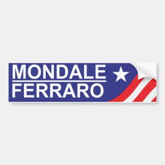 1984 Mondale Ferraro Campaign Bumper Sticker
