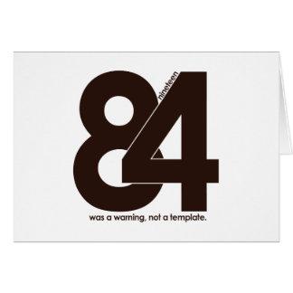 1984 Nineteen Eighty Four Card