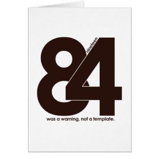 1984 Nineteen Eighty Four Cards
