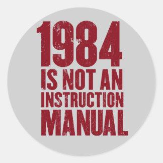 1984 no es pegatina del manual de la instrucción