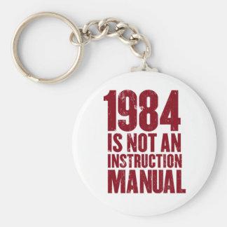 1984 no es un llavero del manual de la instrucción