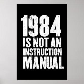 1984 no es un manual de la instrucción poster