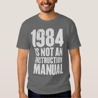 1984 no es un manual de la instrucción remeras