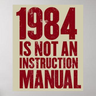 1984 no es un poster del manual de la instrucción