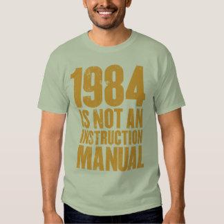 1984 no es una camiseta del manual de la polera