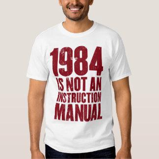 1984 no es una camiseta del manual de la poleras