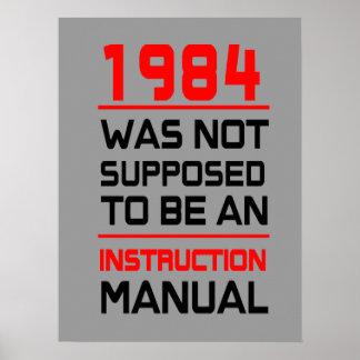 1984 no fue supuesto para ser un manual de la póster