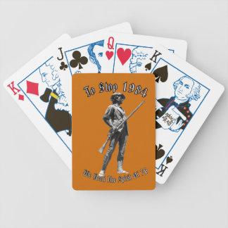 ¿1984 o 1776? baraja cartas de poker