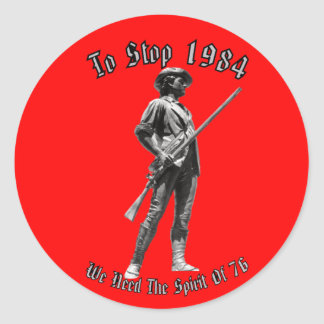 ¿1984 o 1776? pegatina redonda