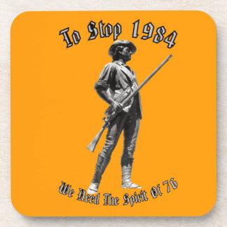 ¿1984 o 1776? posavasos