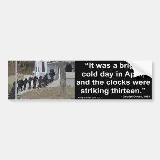 1984 Orwell - First line of novel Bumper Sticker