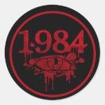 1984 PEGATINAS REDONDAS