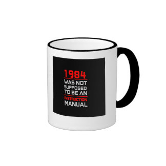 1984 was not supposed to be an Instruction Manual Ringer Coffee Mug