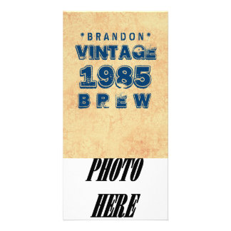 1985 30th or Any Birthday VINTAGE BREW Gold J30Z Photo Card