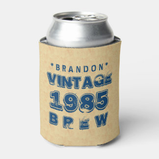 1985 30th or Any Birthday VINTAGE BREW Gold J30Z Can Cooler