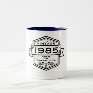1985 Aged To Perfection Two-Tone Coffee Mug