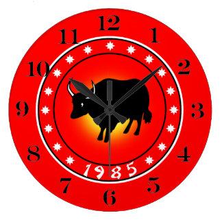 1985 años del buey reloj